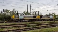 LINEAS 7867 & 7869 shunting at Krefeld HBF (Nicky Boogaard) Tags: krefeld germany deutschebahn deutschland railroadphotography dmrailroad dmrailway railway railfan railfanning lineas lineas7700 hlr78 hlr77 lineas7867 lineas7869