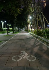 Bike path (theq629) Tags: taiwan taipei daan daanforestpark bike path