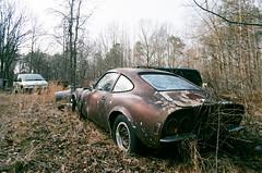 Reg's Burnout (35mm) (Baldran) Tags: abandoned vacant rural ruin decay derelict car auto wreck