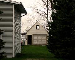 Garage (joeldinda) Tags: canon powershotg9xii g9x 2019 michigan mulliken village house drive driveway garage sky cloud tree lawn 4575 may 123365