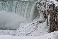 Frozen Falls (B.E.K. Photography) Tags: niagara falls waterfall frozen ice snow winter cold white steam mist building structure architecture wall cliff canada ontario outdoor landscape nikond850 nikon2470f28