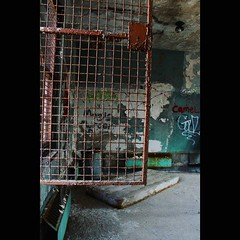 Unlocked (CaptJackSavvy) Tags: abandonedbuilding abandoned urbandecay urbanexploration urbanex urbex peelingpaint rust