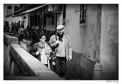 Tourists (Aljaž Anžič Tuna) Tags: tourists ljubljana street streetphotography nabrežje ljubljanica oldtown man woman photo365 project365 people onephotoaday onceaday 365 35mm 365challenge 365project nikkor nice nikond800 naturallight nikon nikon105mmf28 105mmf28 f28 dailyphoto day d800 bw blackandwhite black white blackwhite beautiful