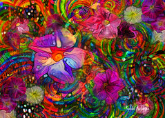 Whirling (brillianthues) Tags: flowers floral abstract colorful collage photography photmanuplation photoshop dreamscope