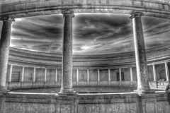 alhambra rotunda granada (hmong135) Tags: rotunda alhambra granada bw spain theater 16thcentury carlos5th architecture