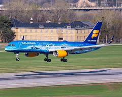 MSP TF-FIR (Moments In Flight) Tags: minneapolisstpaulinternationalairport msp kmsp mspairport icelandair tffir boeing 757 b752 vatnajökull vatnajokull speciallivery 757256 757200 aviation avgeek airliner glacierplane