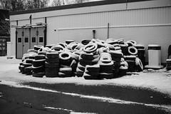 Iisalmi (Tuomo Lindfors) Tags: iisalmi finland suomi takatalvi lumi snow rengas tyre huoltoasema gasstation blackwhite myiisalmi garage