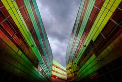 la defense (teun_van_dijk) Tags: 05 fuji teunvandijk ladefense almere netherlands architecture city urbanarte building sky light sun contrast clouds velvia unstudio