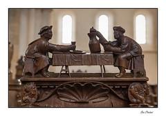 Les Compères (Rémi Marchand) Tags: collégiale montréal collégialedemontréal yonne bourgogne sculpture stallessculptées stalles sculptureenrondebosse rigolley canoneos5dmarkiii
