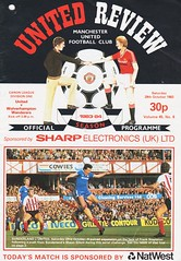Manchester United vs Wolverhampton Wanderers - 1983 - Cover Page (The Sky Strikers) Tags: manchester united wolverhampton wanderers wolves canon league division one review official season programme old trafford 30p