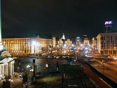 A view of Maidan square (fulgherigabriele) Tags: maidan night lights ukraine kiev kyiv architecture building