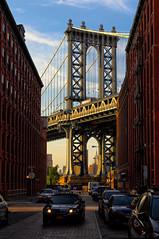 Manhattan bridge [Explore] (Bokeh & Travel) Tags: manhattan bridge brooklyn newyorkcity nyc newyork ny manhattanbridge architecture sunsetcolors sunsetlight goldhour pov perspective tower colorful beautiful famous street streetscape cityscape city steel icon iconic