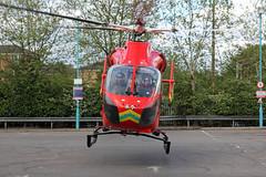 London's Air Ambulance in Cricklewood (kertappa) Tags: img7063 air ambulance londons london hems doctor paramedics hospital gehms emergency helicopter kertappa broadway retail park cricklewood