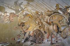 Battle of Issus between Alexander and Darius III (kate223332) Tags: houseofthefaun pompeii mosaic museum archeology napoli italy alexanderthegreat darius romanmosaic casadelfauno