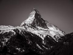 Matterhorn (Guy Goetzinger) Tags: cervin matterhorn mountain zermatt bw switzerland goetzinger nikon montagne berg alpen wallis valais