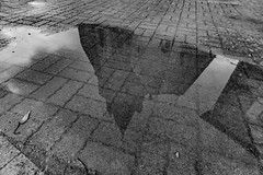 03-Reflet de clocher (Alain COSTE) Tags: 2019 abjatsurbandiat dordogne eglise nikon noiretblanc ocb périgordvert reflet sigma20mmf14 village france