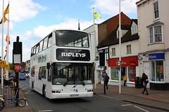 Ridleys at Stratford-upon-Avon (Chris Baines) Tags: ridleys leamington spa volvo b7tl plaxton president w840 wgh stratforduponavon