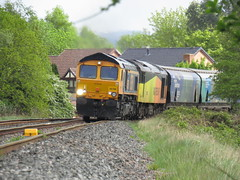 Double Headed Biomass - 66708 & 60047 (Trainsurfers) Tags: car grass tree walking new old art leaves stones railways uk metal man machine nature earth planet flickr photography water tracks lines england trainspotter trainspotting colours location trains fence weather concrete driver landscape people outside vehicle british railway picture road railroad train sky rail day diesel locomotive hazard windshield photo gbrf liverpool biomass terminal bridge junction denton drax aes 6e17 66708 60047 class60 04052019 jupiter jayne