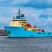Maersk Lancer Arriving @ Aberdeen Harbour 04/05/2019