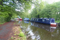 Barges moored at Whaley Bridge Junction   (Peak Forest Canal)   May 2019 (dave_attrill) Tags: barge moored junction whaleybridge peakforest canal towpath peakdistrict nationalpark derbyshire may 2019 cheshirering waterway