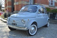 Fiat 500D 1963 (Monde-Auto Passion Photos) Tags: voiture vehicule auto automobile fiat 500 petite little bleu blue ancienne classique collection vente enchère osenat france fontainebleau