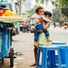 Children at Sugarcane Juice Cart, Mandalay Myanmar