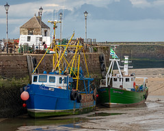 harbour boats (Rourkeor) Tags: cumbria england mzuikodigitaled12‑100mm140ispro m43 maryport omdem1markii olympus uk boats docked harbour mft microfourthirds moored sand unitedkingdom
