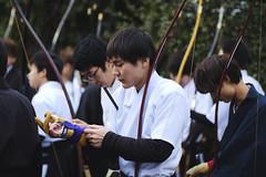 Toshiya, Kyoto (dropofh2o) Tags: kyoto japan toshiya archery contaxzeiss100mmf2 kyūdō