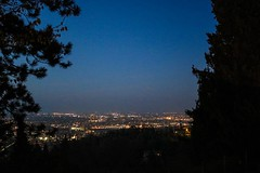 Quiet night (Zor.annie) Tags: italy italia bologna sanluca city town night dark light lights sky skyline landscape view