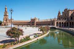Plaza de España (Trouvaille Blue) Tags: europe spain españa sevilla seville plazadeespaña trouvailleblue