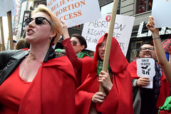 thank (greenelent) Tags: abortion prochoice women people protest streets nyc timessquare photoaday 365 red