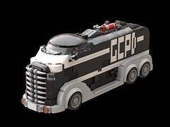 GCPD Truck (inspired by the GCPD Truck of Batman The Animated Series and Mask of the Phantasm) (bricksfeeder) Tags: