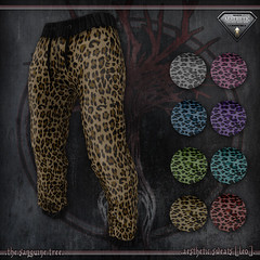 [ new release - aesthetic sweats [ leo ] ([ sithas ]) Tags: sithasslade thesanguinetree secondlife sl male fashion man men sweat sweats sweatpants workout fitness pattern leo leopard cheetah red blue green purple turquoise gray pink brown
