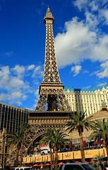 Eiffel Tower in Las Vegas! (rambokemp) Tags: eiffel tower las vegas bluesky building strip
