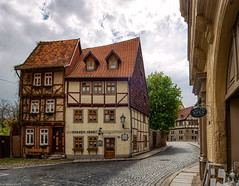 Quedlinburg Hohe Straße (carsten.plagge) Tags: 2019 cp55 fachwerk lumix quedlinburg landkreisquedlinburg sachsenanhalt deutschland