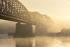 De retour au vieux pont - DSC09976 (Ptittomtompics) Tags: alsace bridge brume ciel eau fleuve landmark landscape matin mist morning pont rhin river scenery sky soleil sun water scenic