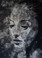 Dadraußen (Christian Haupt) Tags: stencil serigrafie spraypaint sprayart art acryl malerei monochrom kunst painting pochoir