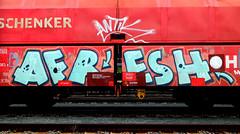 Graffiti on Freights (wojofoto) Tags: amsterdam nederland netherland holland graffiti streetart cargotrain vrachttrein freighttraingraffiti freighttrain freights fr8 wojofoto wolfgangjosten afresh antik