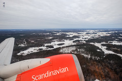 View on take-off (A. Wee) Tags: sas 北欧航空 scandinavianairlines arlanda sweden 瑞典
