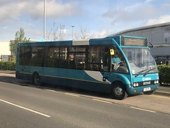 AMN 2405 @ Victoria Place, Hednesford (ianjpoole) Tags: arriva midlands optare solo m950 yj58pku 2405 working route 63 cannock bus station rugeley