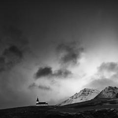 Víkurkirkja (frodi brinks photography) Tags: dyrholar vik iceland church vikurkirkja mountains landscape