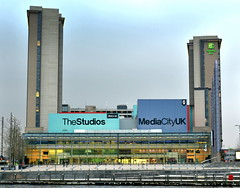 Studios at Media City (Tony Worrall) Tags: gmr manchester manc city northwest urban steel modern salford architecture building mediacity bbc itv television design studios mediacityuk