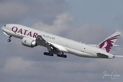 Boeing 777-FDZ – Qatar Airways Cargo – A7-BFN – Brussels Airport (BRU EBBR) – 2019 04 26 – Takeoff RWY 25R – 01 – Copyright © 2019 Ivan Coninx (Ivan Coninx Photography) Tags: ivanconinx ivanconinxphotography photography aviationphotography boeing boeing777 boeing777fdz 777 b777 777fdz qatar qatarairways qatarairwayscargo a7bfn brusselsairport bru ebbr qr195 aviation spotting spotter takeoff