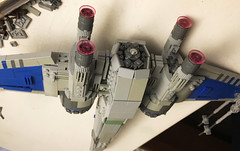six into seven (atlas_er) Tags: star wars x wing xwing t70 t 70 starfighter episode 7 vii force awakens lego moc ship spaceship sequel trilogy new starwars fighter poe dameron last jedi dqar battle space 8 viii blue squadron