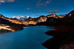 Tilicho Lake. Nepal. Himalaya. (YogiMik) Tags: tilicho lake yogi mik nepal annapurna range 5000 m above sea level the highest altitude world travel landscape blue sky clouds stones mountains great barrier himalaya
