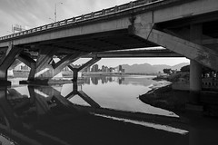 Bridge Broadside (jasoncremephotography) Tags: taipei taiwan leica sl leicasl bridge blackandwhite monochrome