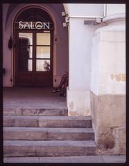 The beauty salon. Bronica RF645 100mm lens - Ektachrome 100, expired 2004, shot April 2019, process E-6. Moscow. (kosmos.pilot) Tags: ektachrome 6x45 bronicarf645 moscow legs