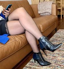 MyLeggyLady (MyLeggyLady) Tags: sex hotwife milf sexy secretary teasing cfm miniskirt stockings thighs boots stiletto legs heels