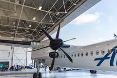 Alaska Airlines Aviation Day (wacamerabuff) Tags: alaskaavationday airport seatac washington avation ksea bombardier dash 8 q400 airplane aircraft propellor aviation horizonairlines qxe alaskaairlines asa