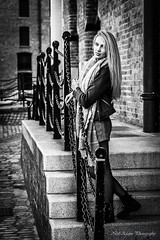 On the steps (Neil Adams Photography (Wirral)) Tags: young model girl woman female beautiful elegant pretty sensual blonde outdoor outside